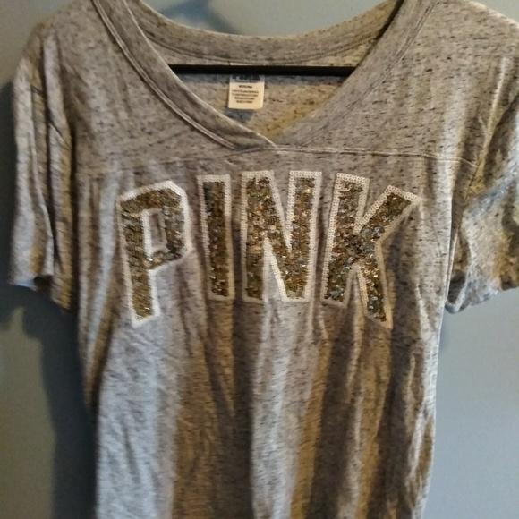 PINK Victoria's Secret Tops - Vs pink campus tee medium